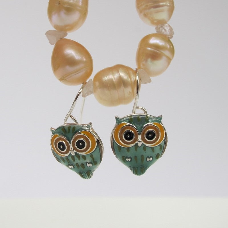 ZARAH SILVER PLATED OWL EARRINGS