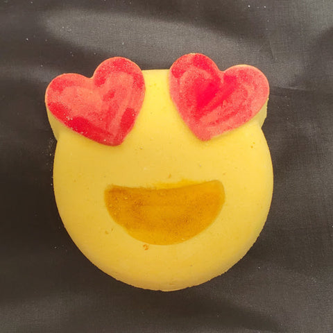 Heart Eyes Emoji, Valentine Bath Bomb - Stacy's Soap Suds