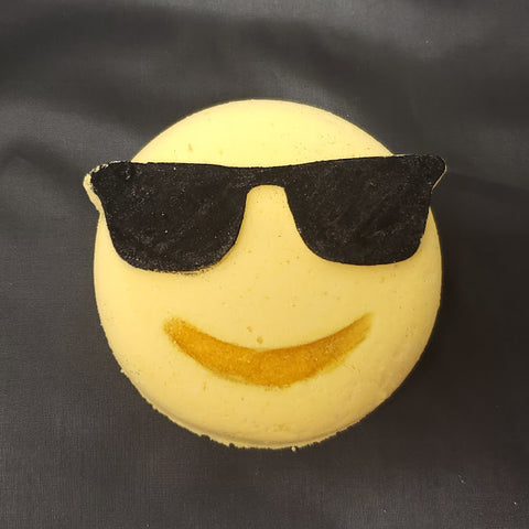 Emoji Cool Dude Sunglasses Bath Bomb - Stacy's Soap Suds