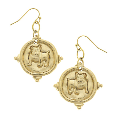 Bulldog Drop Earrings