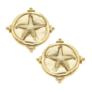Starfish Intaglio Earrings