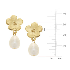 Poppy Pearl Drop Earring