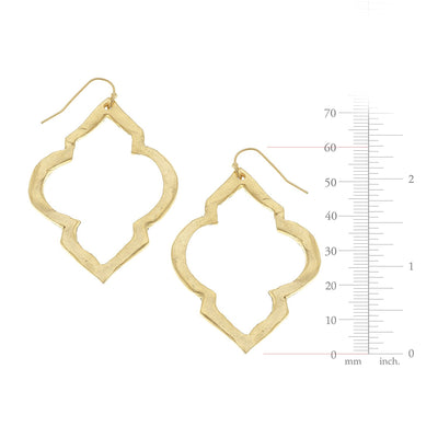 Gold Scallop Cut Out Earrings
