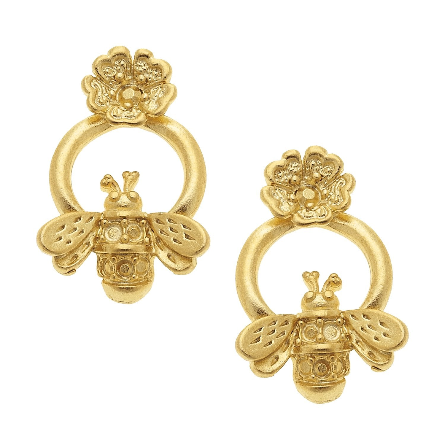 Sweet Spring Bee Stud Earrings