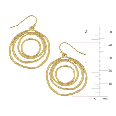 Swirl Cut Out Earrings