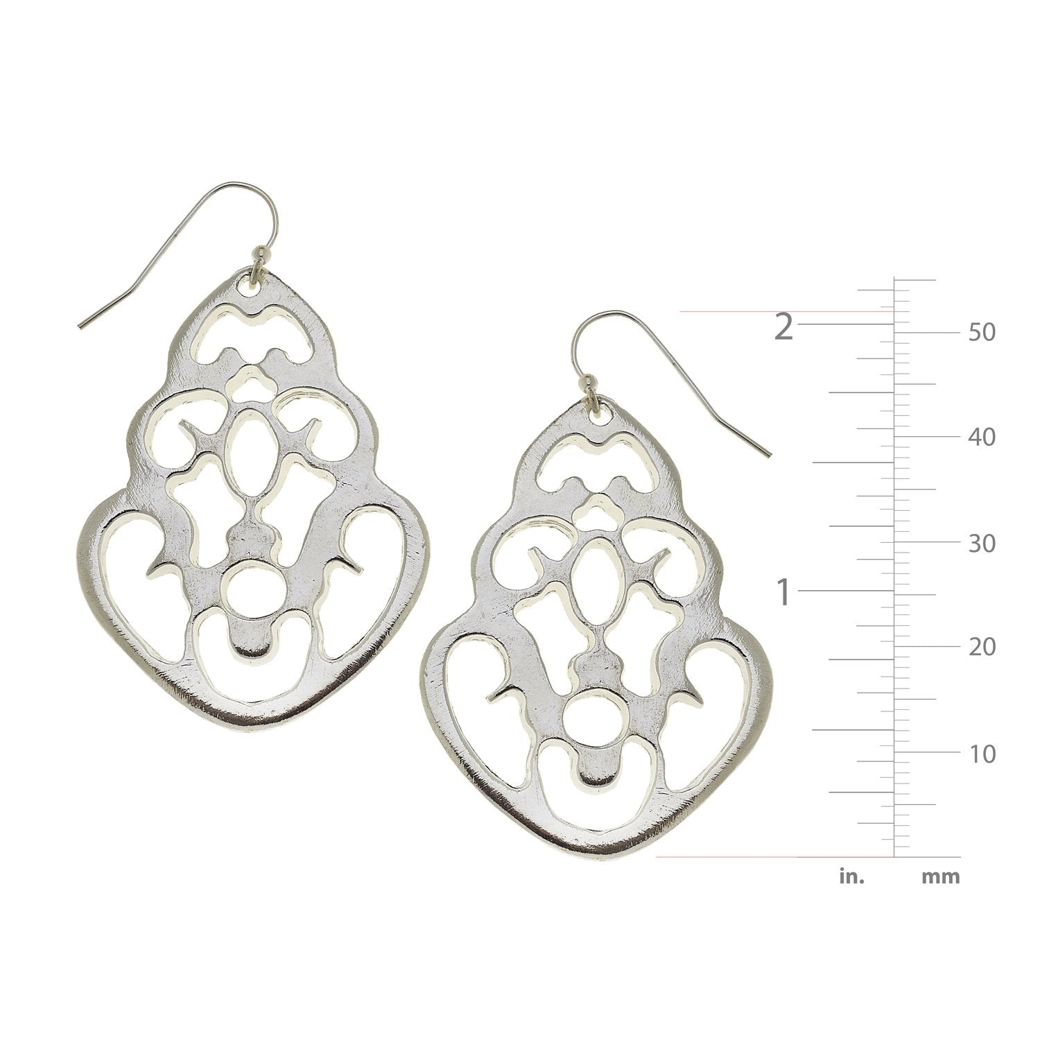 Teardrop Cut Out Earrings