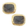 Labradorite Rectangle Studs