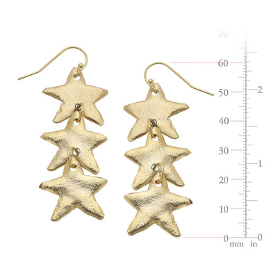 Triple Star Earring