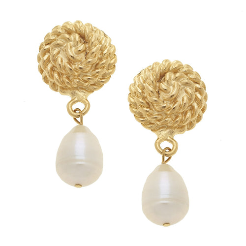 Freshwater Pearl Rope Earrings