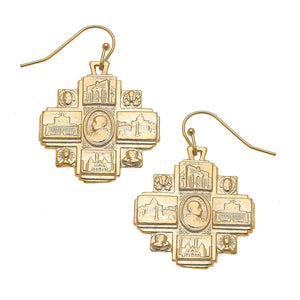 Saints Drop Earrings