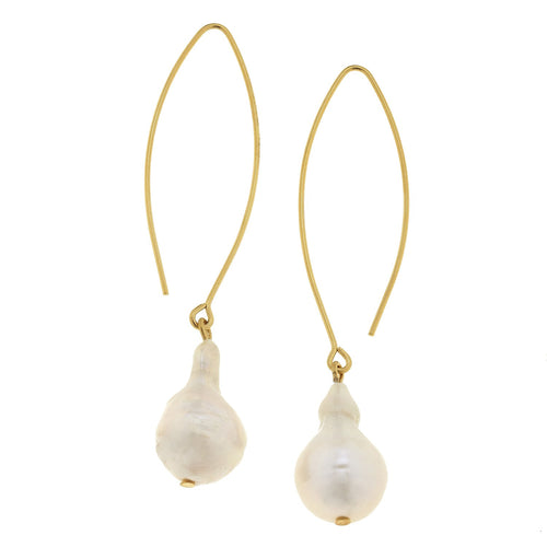 Baroque Pearl Threader Earrings