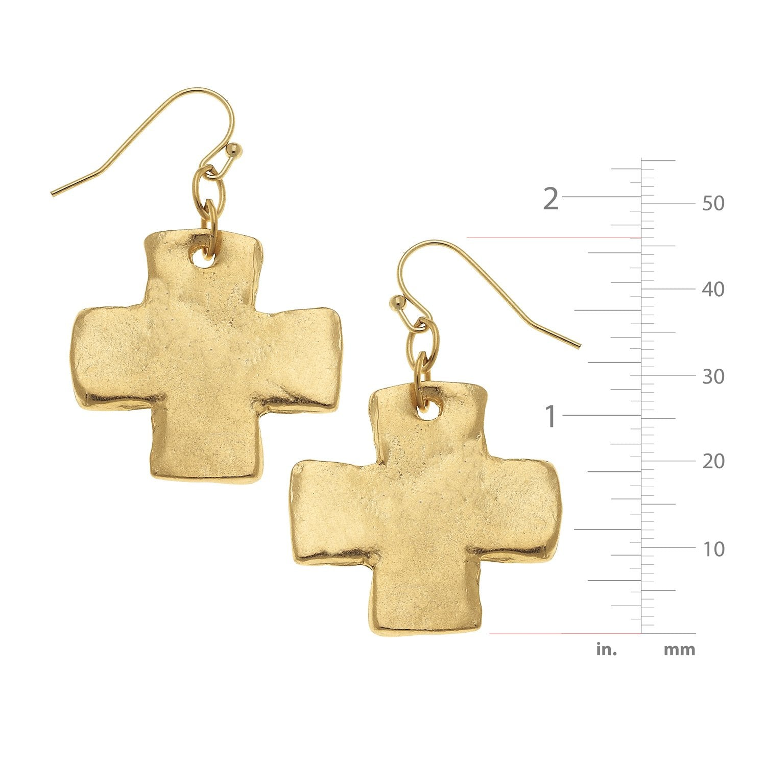 Solid Cross Earrings