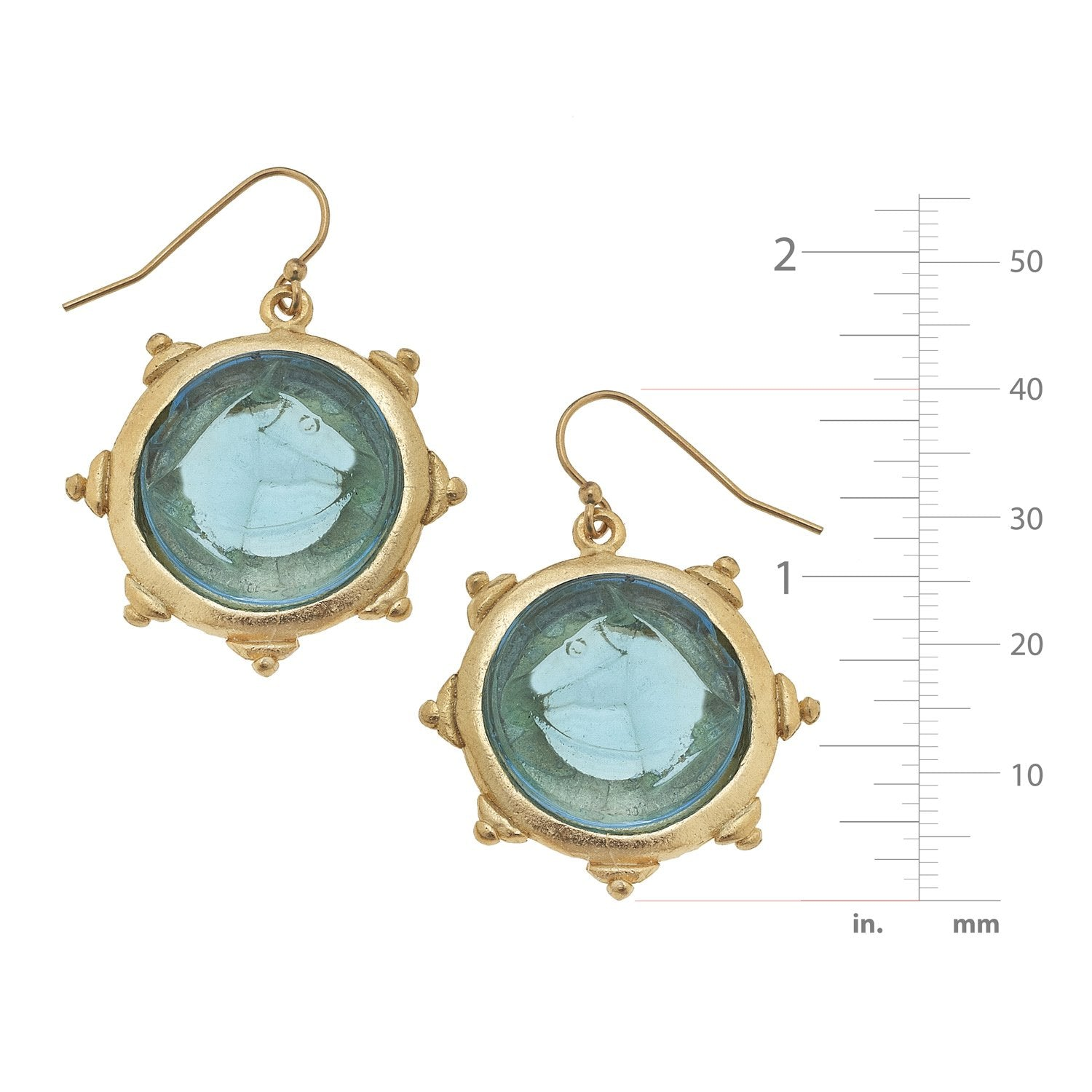 Venetian Glass Horse Head Earrings
