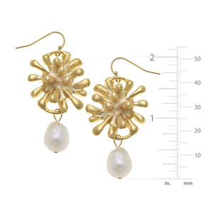 Firecracker Pearl Drop Earrings