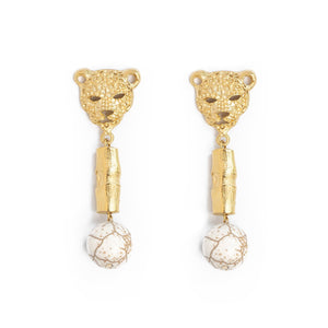 Leopard Bamboo Earrings