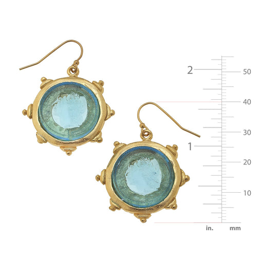 Venetian Glass Coin Earrings