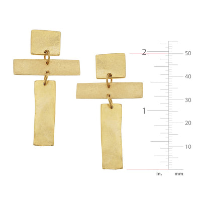 Modern Cross Earrings