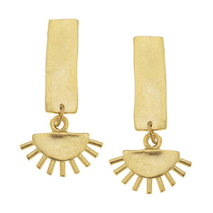 Golden Eyelash Earrings
