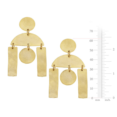 Geometric Statement Earrings