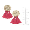 Rattan Tassel Earrings