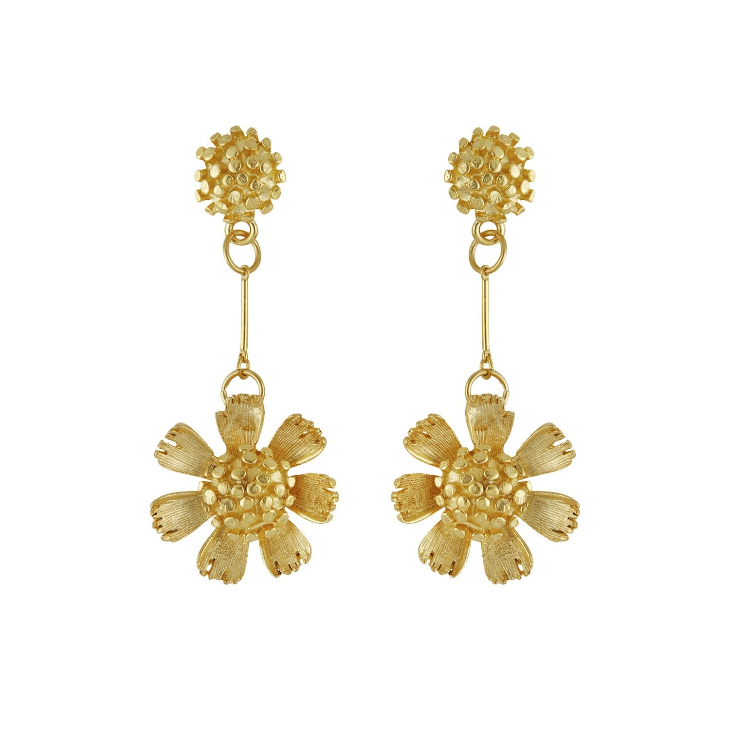 Buttercup Chain Drop Earrings