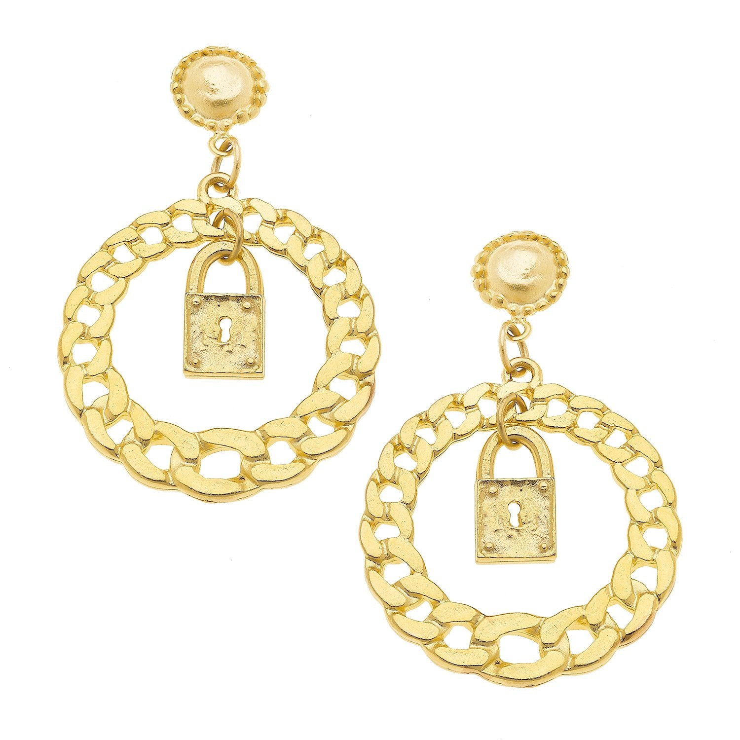 Lock Statement Earrings