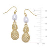 Pineapple + Pearl Dangle Earrings