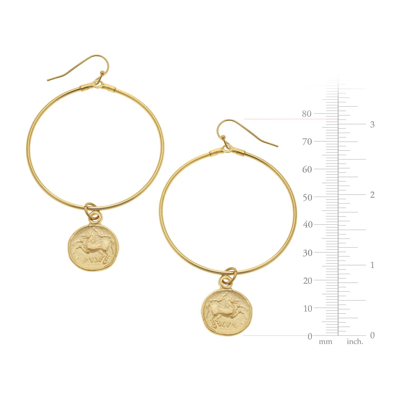 Large Circle Coin Earrings