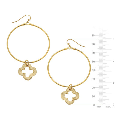 Large Circle Clover Earrings