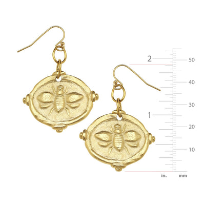 Bee Intaglio Earrings