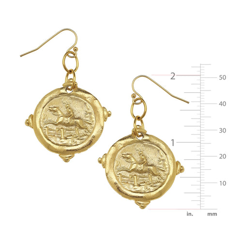 Equestrian Intaglio Earrings