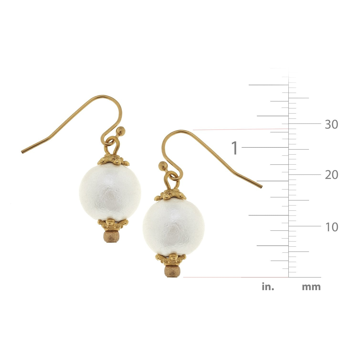 Small Cotton Pearl Earrings