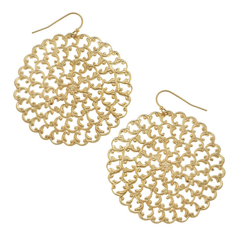 Textured Chain Earrings