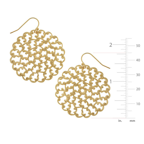 Small Round Filigree Earrings
