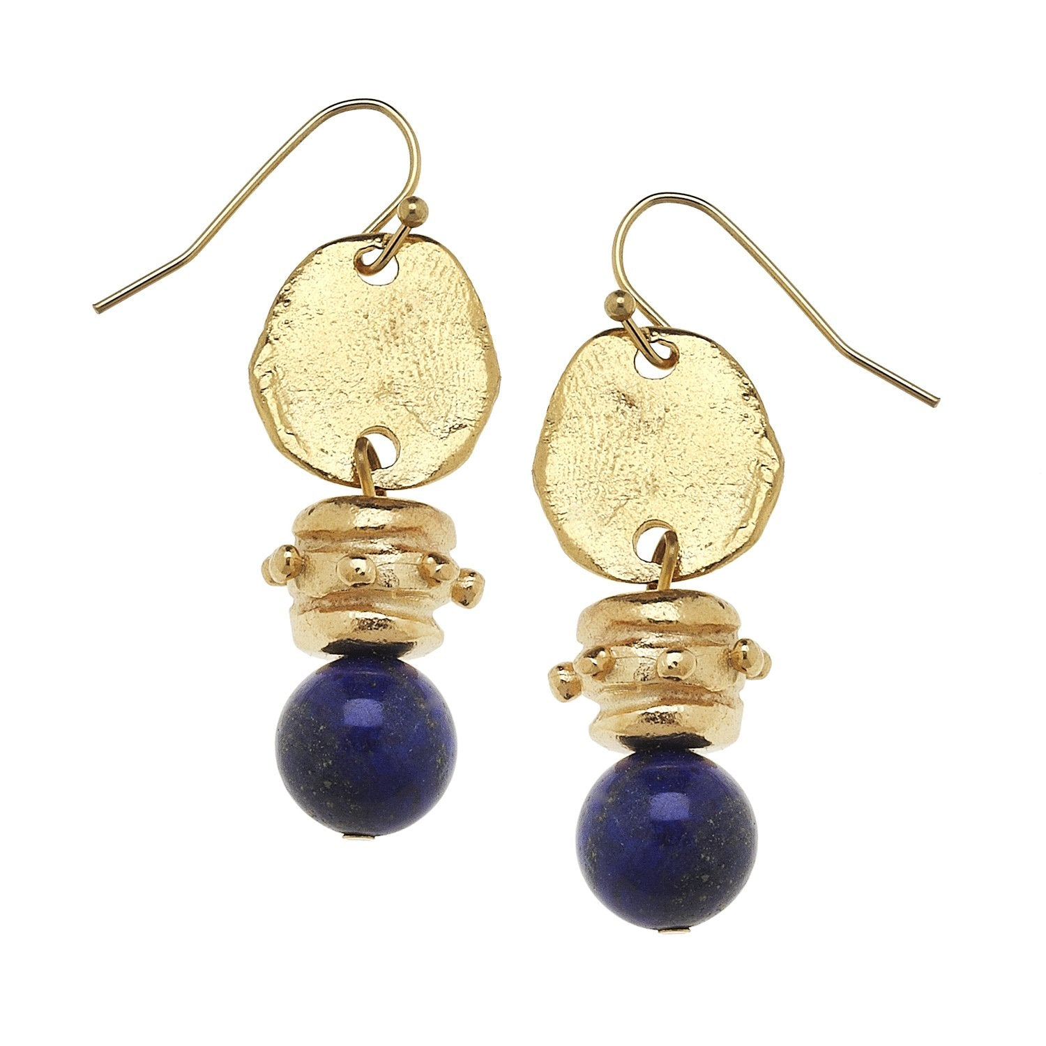 Blue Lapis Drop Earrings