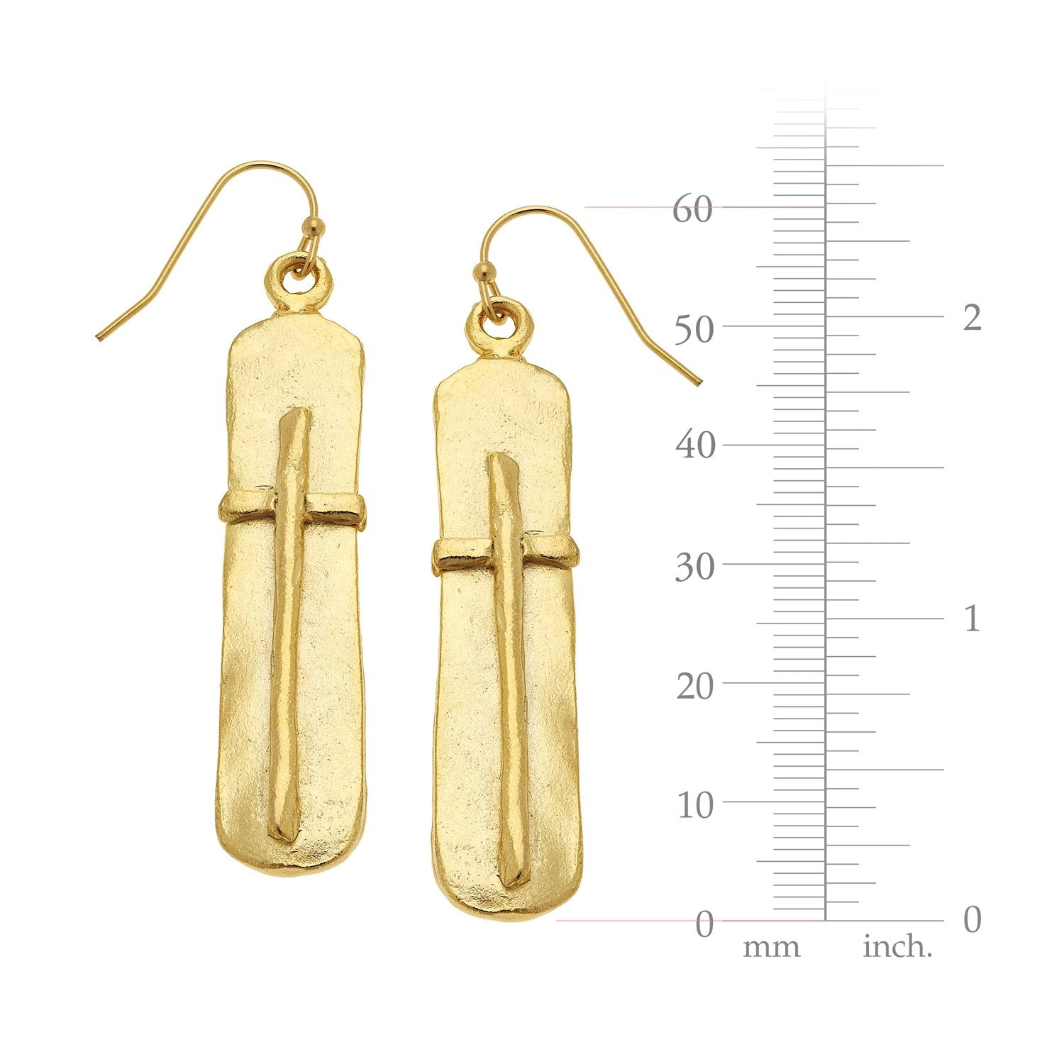 Bar Cross Earrings