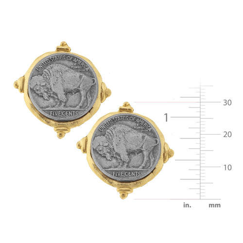 Buffalo Nickel CLIP Earrings