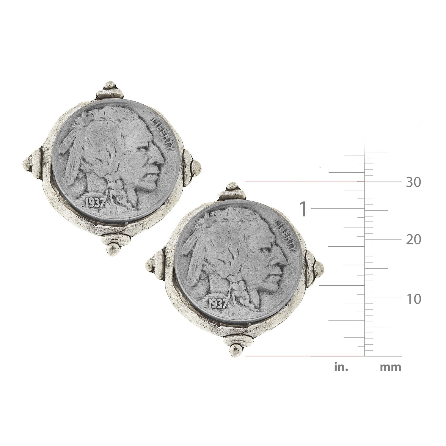 American Indian Nickel Studs