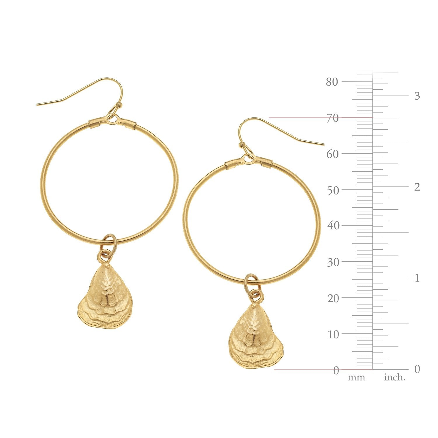 Circle Oyster Earrings