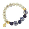 Blue & White Turquoise Lapis Stretch Bracelet