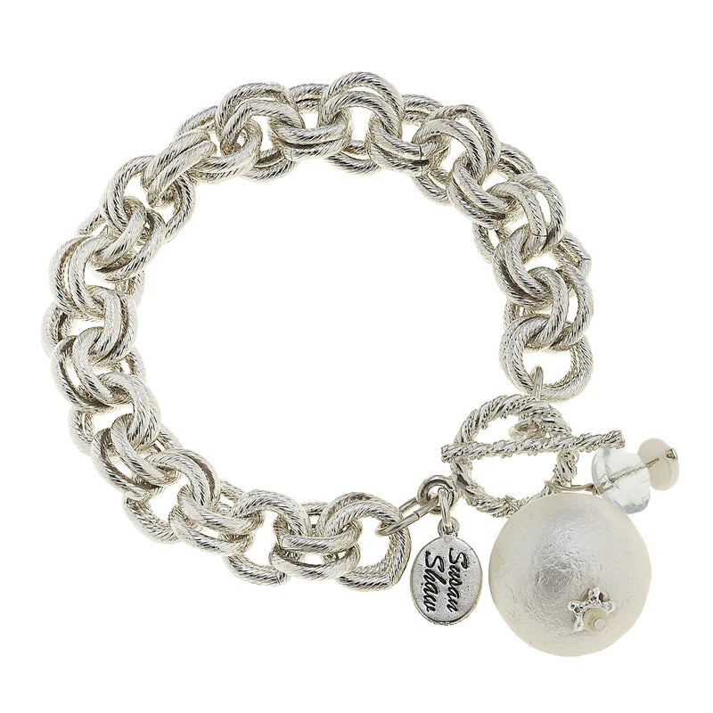 Cotton Pearl Dangle Bracelet