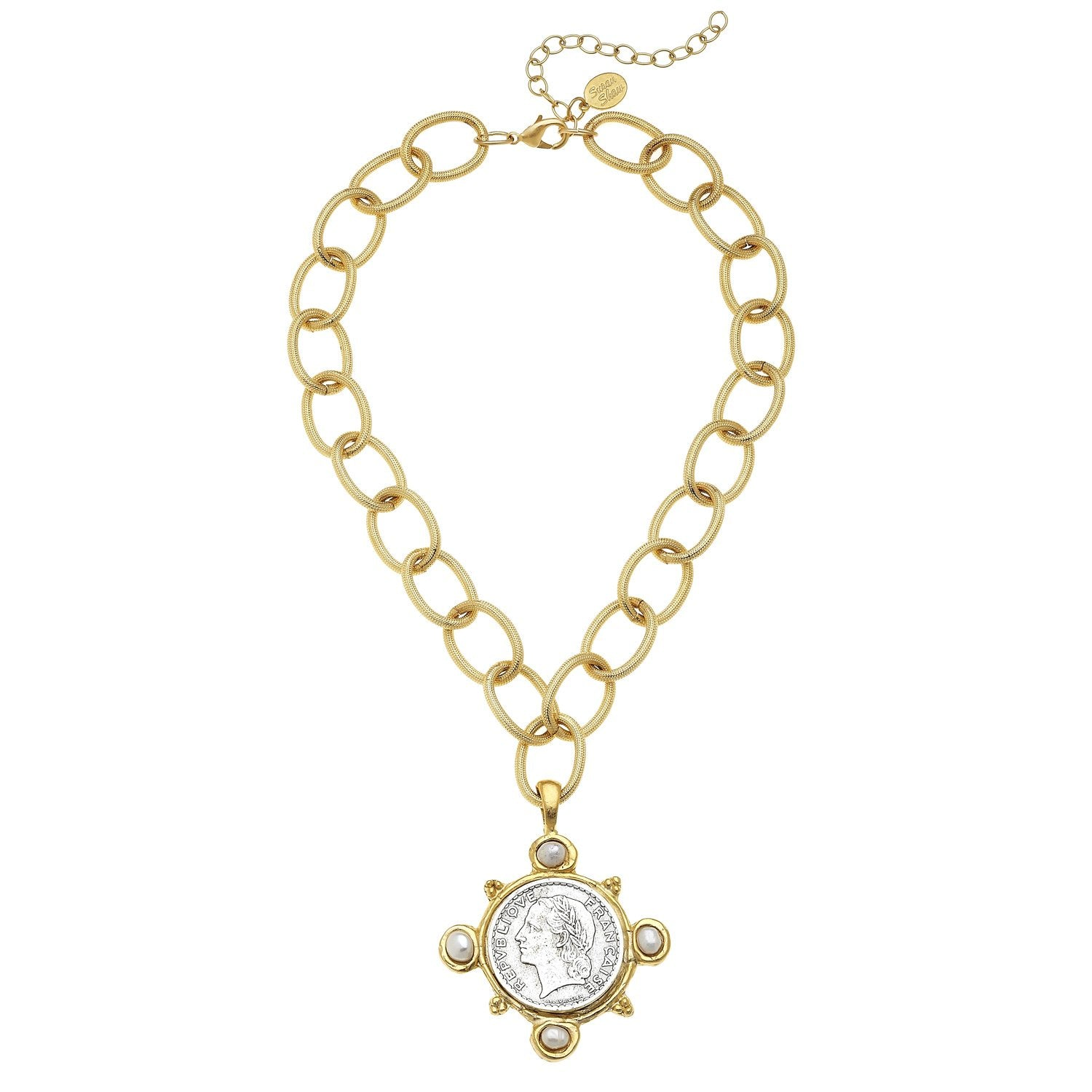Elizabeth Coin + Freshwater Pearl Necklace