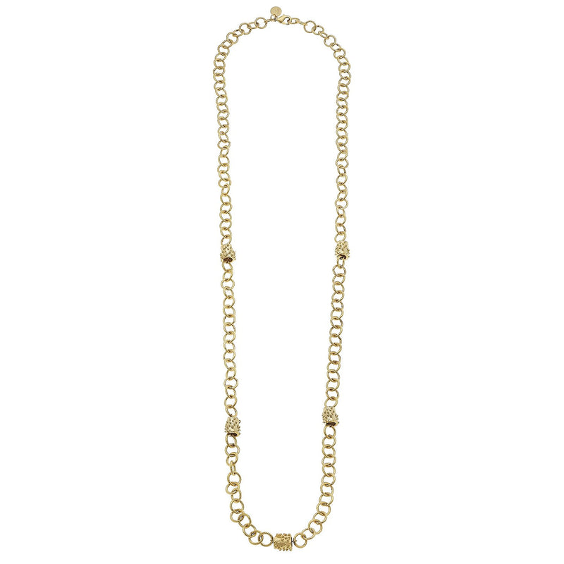 Linked Bead Chain Necklace