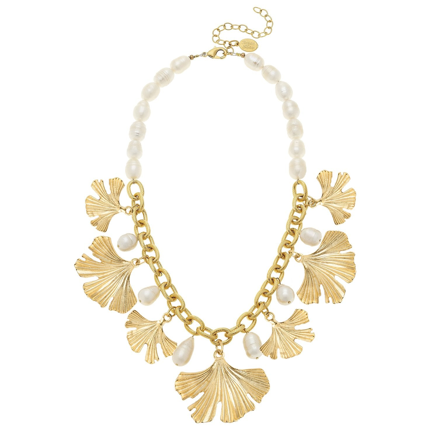 Pearl Ginkgo Necklace