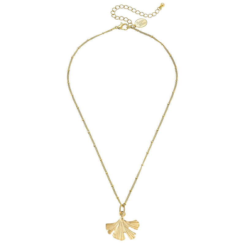 Dainty Ginkgo Necklace