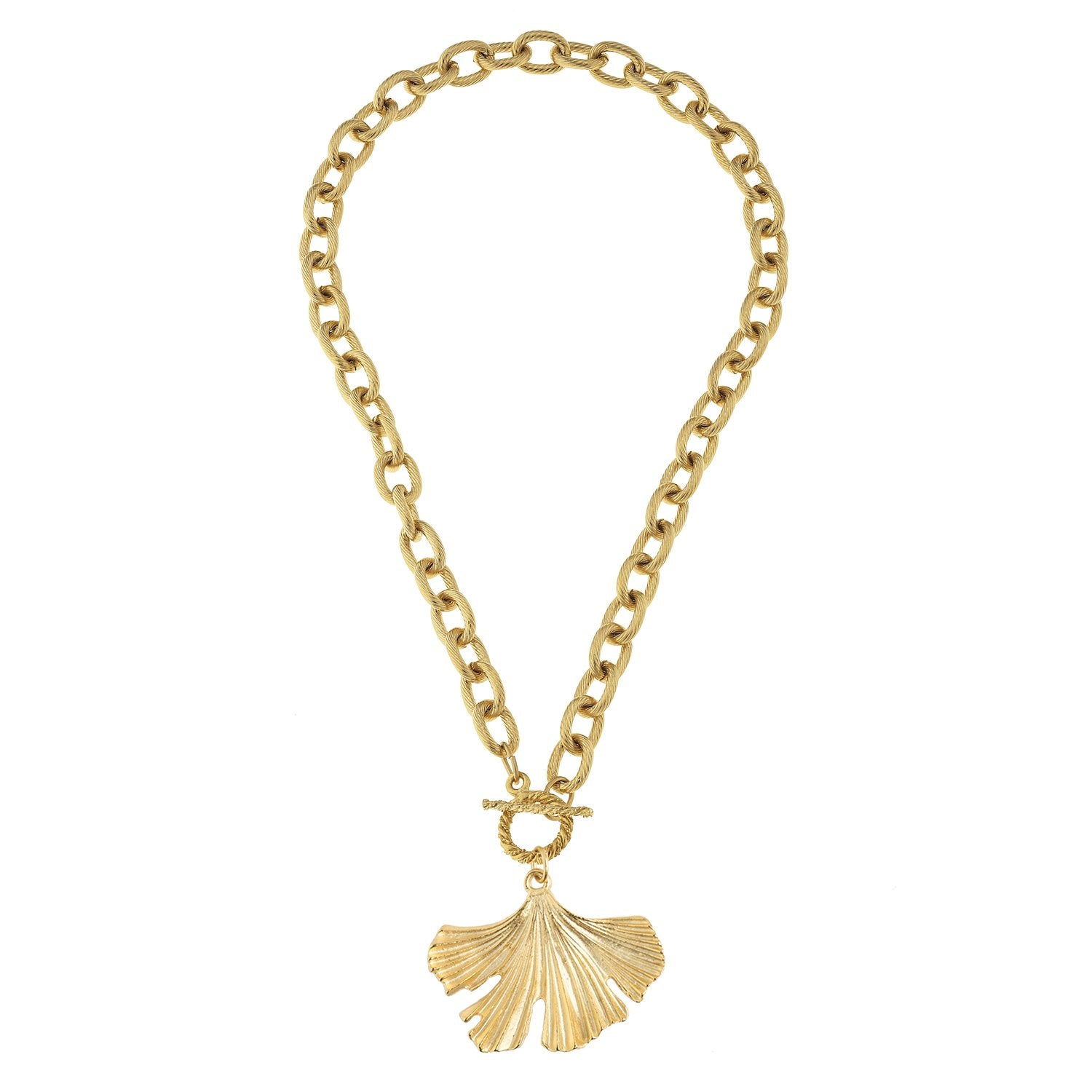 Ginkgo Toggle Necklace