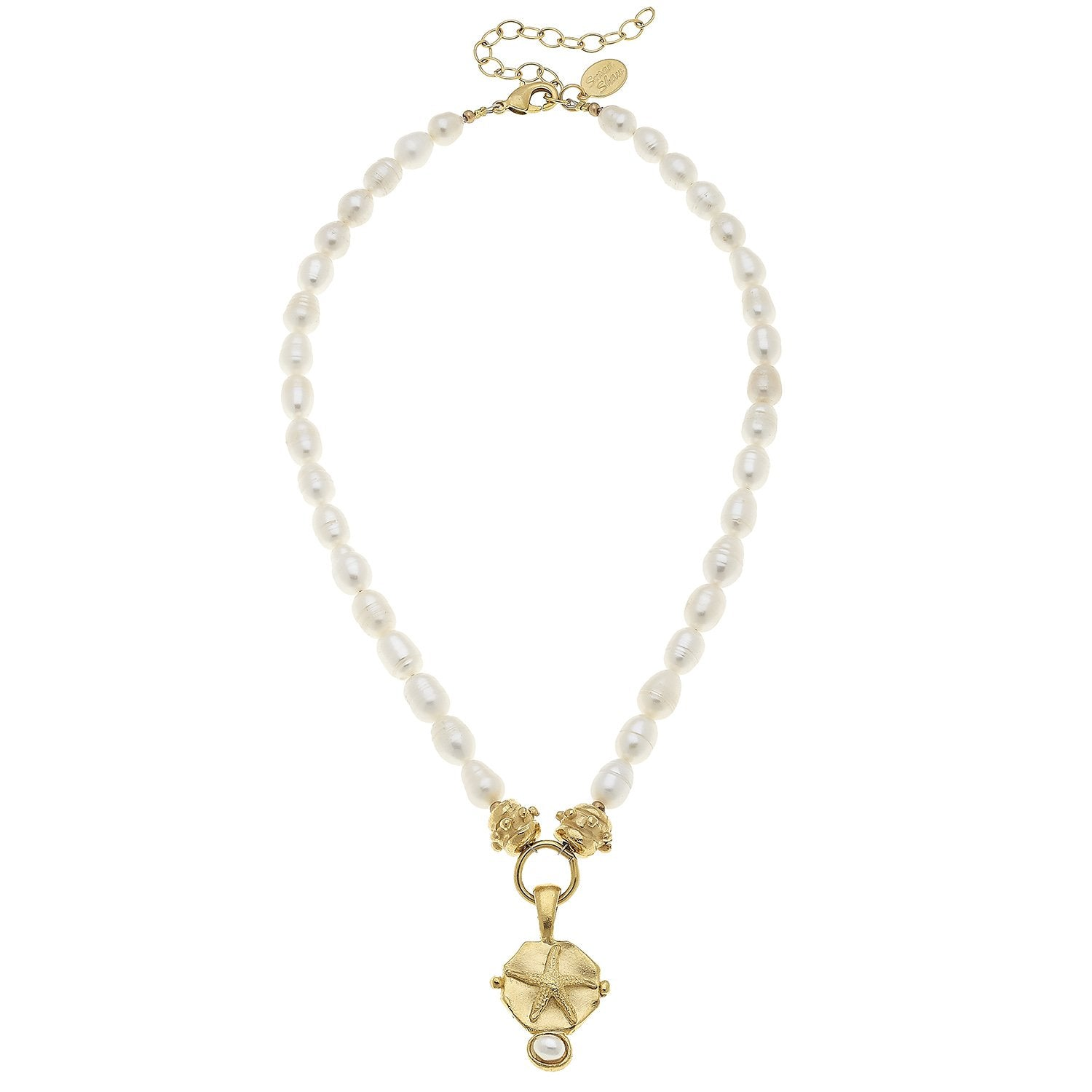 Pearl Necklace with Gold Starfish