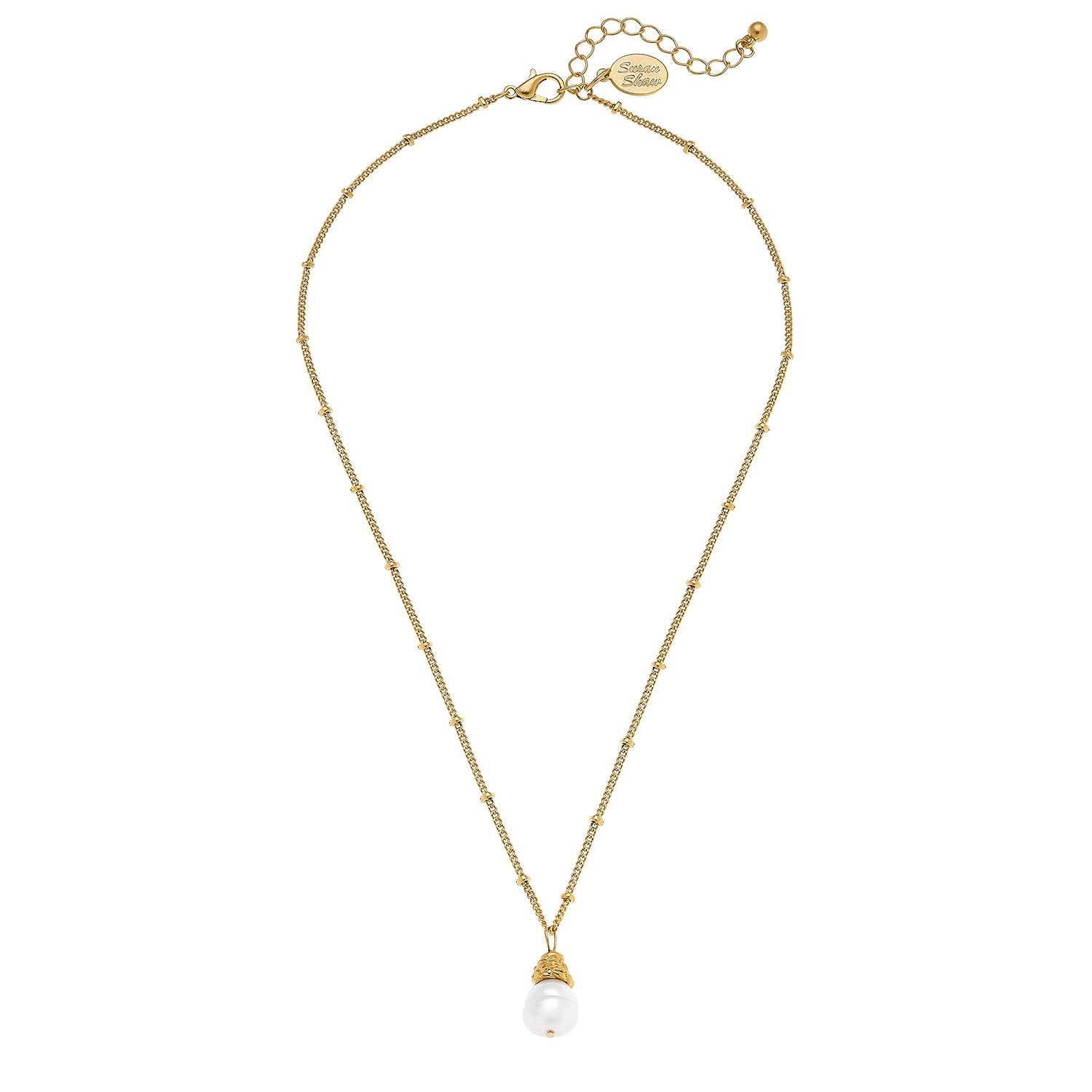Dainty Pearl Drop Necklace