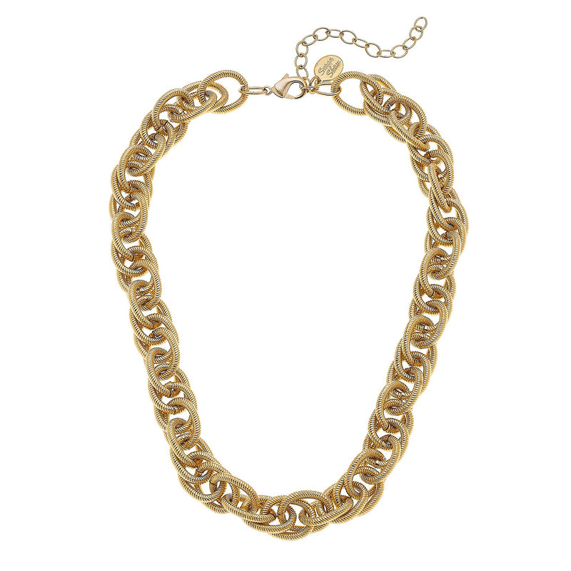 Scrunched Chain Necklace
