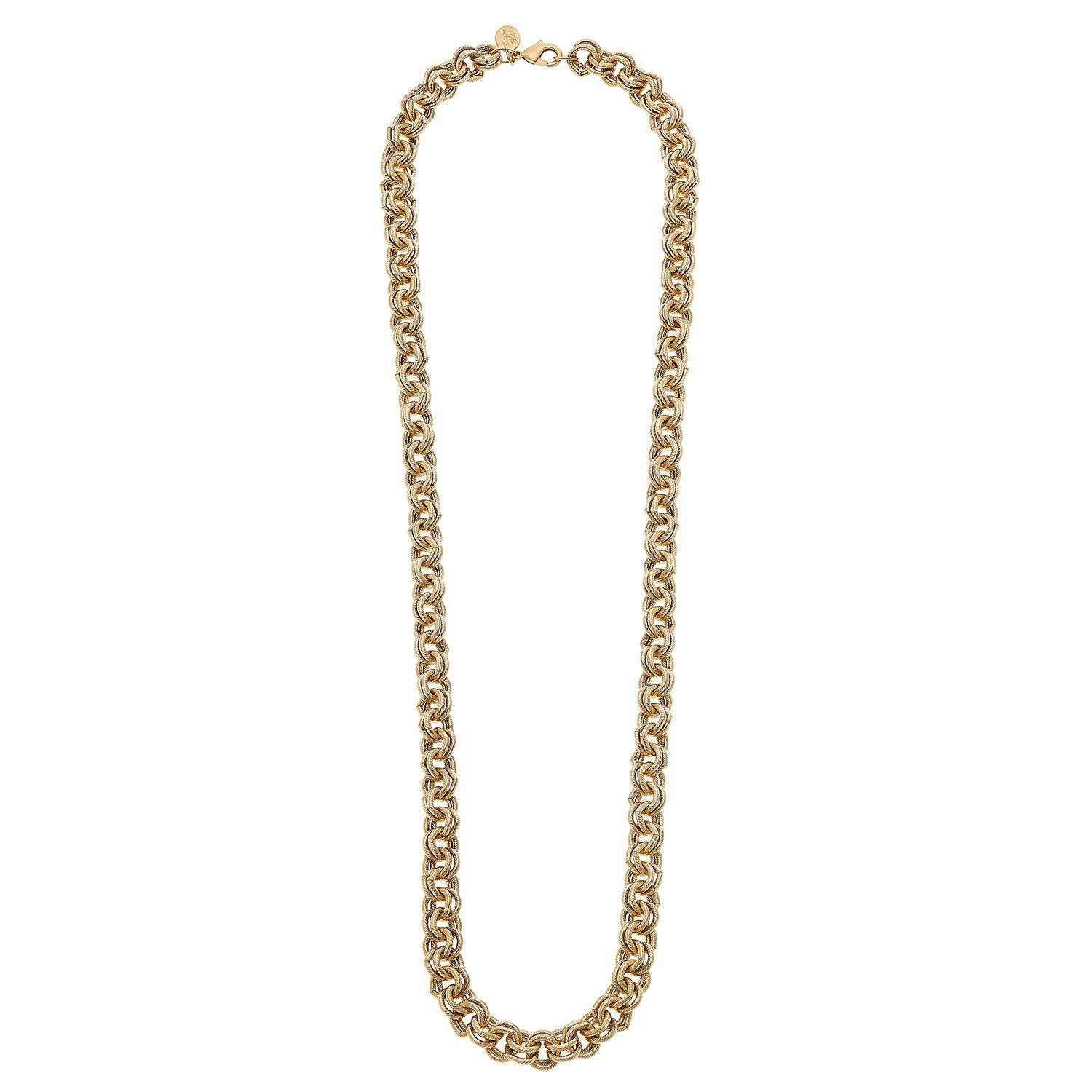 Long Double Link Chain Necklace